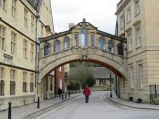 Oxford bridge, resembling the Bridge of Sighs in Venice. Note the quiet streets, middle of the afternoon on Boxing Day.